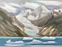 "Wendy Wacko ""Kiwa Glacier"" oil on birch panel, 24 x 36"""