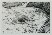 "Arlene Wasylynchuk, Study #1, Spring Rush 5, 1992, ink on paper, 4 x 6"""