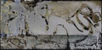 "Marianne Watchel ""Minos Snarls"" 2018, acrylic on canvas, 12 x 24"""
