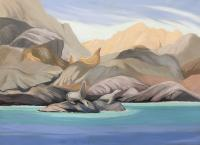 "Wendy Wacko ""The Guardians - Gwaii National Park"" oil on canvas, 36 x 48"