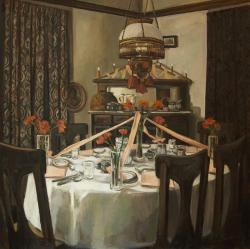 """Gillian Willans, oil and acrylic on canvas 30 x 30"""""""